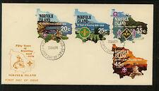 Norfolk Islands  231-34  Boy Scout cachet  cover      KL0721