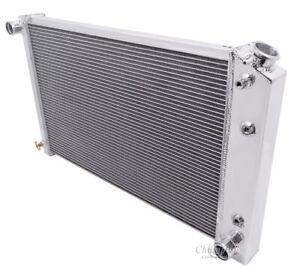 "Chevy El Camino 26"" High Performance 2 Row Aluminum Radiator 1"" Tubes DPI 162"