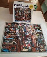 THE SLEEPY SHOPKEEPER Puzzle Within a Puzzle Jigsaw Great American Puzzle #9738