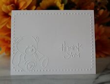 Embossed Thank You Cards - Baby Shower Teddy Bear Notes - Set Of 20, 50, 100