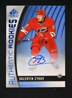 2017-18 Upper Deck SP Game Used Blue Auto Authentic Rookies #101 Valentin Zykov