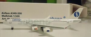 Herpa 1:500 scale  -  Sabena Airlines  A340-200    -   507325