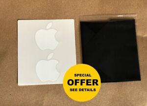 Genuine Apple Microfibre Screen Cleaning Cloth iMac MacBook iPad + Free Stickers