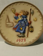 Vtg Hummel Annual Plate 1974 In Bas Relief