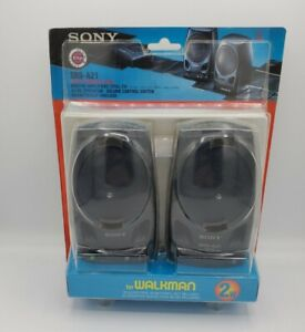 New SONY SRS-A21 Active Speaker System for Walkman Built In Amplifier 2W Black