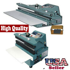"8"" Automatic / Manual Constant Heat Sealer 5/8"" Seal Foil Bag Thick Plastic Film"