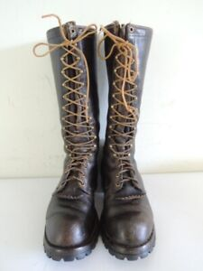 Vintage WESCO Leather Lace Up 16-Inch Lineman Logger Work Boots Size 10 - 10.5