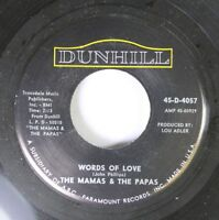 Rock 45 The Mamas & The Papas - Words Of Love / Dancing In The Street On Dunhill