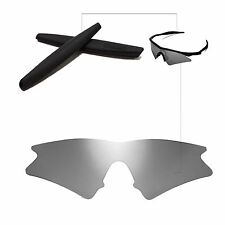 Polarized Titanium Replacement Lenses + Black Earsocks For Oakley M Frame Sweep