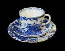 Beautiful Royal Crown Derby Blue Aves Trio