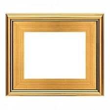 """9""""x12"""" CLASSIC MODERN PICTURE PAINT FRAME PLEIN AIR WOOD GOLD LEAF 3"""" WIDE 9x12"""""""