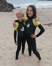 Kids 5mm full wetsuit. Warm GBS seams. All water / beach use. For 1 to 9 years