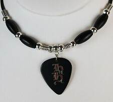 Heaven and Hell Tony Iommi Guitar Pick Necklace, Black Sabbath, DIO