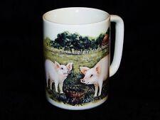 Collectible Otagiri Japan Pig Farm Scene Stoneware Coffee Tea Mug 10 fl. oz.