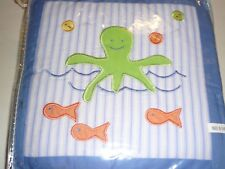 Lambs & Ivy Whale's Tale 3 pc Wall Hanging wavy tail blue ocean sea life New Nip