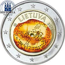 Litauen 2 Euro Münze 2016 bfr Gedenkmünze Baltische Kultur in Kapsel in Farbe
