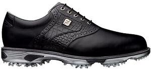 FootJoy DryJoys Tour Golf Shoes 53678 Black/Black Croc Men's New