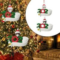 2020 Xmas Christmas Tree Hanging Ornaments Family Ornament Santa Claus Decor DIY