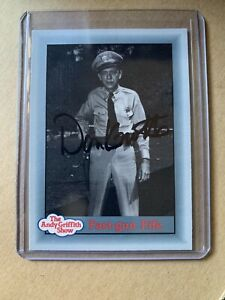 """Don Knotts """"Barney Fife"""" The Andy Griffith Show AUTOGRAPHED Signed Trading Card"""