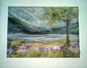 Needle felting Kit - Landscape -Tranquil Loch Scene  includes hand dyed fleece.
