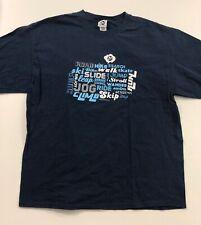 Merrell Mens XL T Shirt Blue Short Sleeve Outdoor Active Hiking