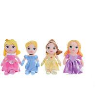 "Disney Princess 8"" Soft Toys - Cinderella, Aurora, Belle & Rapunzel"