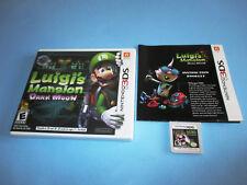 Luigi's Mansion Dark Moon (Nintendo 3DS) XL 2DS Game w/Case & Manual