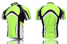 Green Fashion Cycling Bike Short Sleeve Clothing Bicycle Top Jersey Shirt M NEW