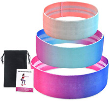 Exercise Resistance Loop Band Elastic Booty Band for Yoga Home Gym Training 3pcs