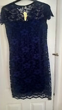 Navy  Wiggle Pencil Dress XL approx 12