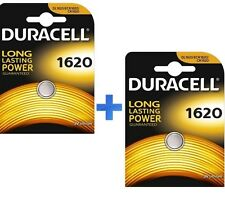 DURACELL BATTERIA CR1620 PILA BOTTONE A LITIO 3V DL1620 PILA BOTTONE KIT 2 PEZZI