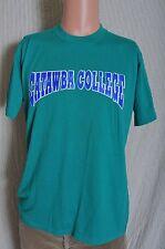 Vintage '80s Catawba College green soft t shirt M