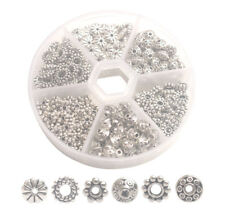 300PCS Antiqued Silver Metal Bali Daisy Spacer Beads for Jewelry Making
