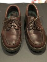 SEBAGO Docksides Brown Leather Boat Shoes Mens Size 14 Excellent Made In The USA