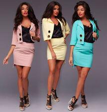 Zweiteilige Damen-Anzüge & -Kombinationen aus Baumwolle mit Rock für Business