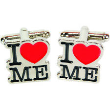 I Love Me Cufflinks Wedding Office Cool Funky Novelty Fashion Accessory Him