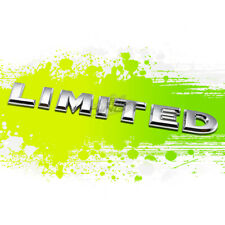 """LIMITED"" SILVER LETTER LOGO TRIM BADGE METAL EMBLEM DECAL AUTO EXTERIOR STICKER"