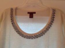 Brand New Jessica London Jeweled Neck Sweater Size 22/24