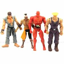 4pcs Toys JAZWARES STREET FIGHTER RED SETH GUILE RYU 4 inches Action FIGURE Gift