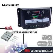 30A MPPT Solar Panel Battery Regulator Charge Controller + 2X Plug OE