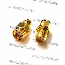 ADAPTER ADATTATORE SMA FEMALE to RP SMA male CONNECTOR WIFI ROUTER RF COAXIAL