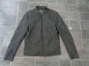 mens zara black faux leather jacket- size medium- autumn/winter