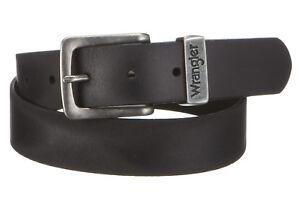 Wrangler New Men's Metal Loop Leather Buckle Belt Black