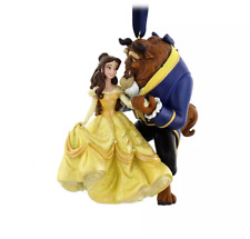 Disney Original Beauty and the Beast Figural Ornament Resin Decoration Gift