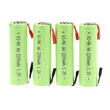 Lot of 4PCS 1.2V 2200mAh Ni-MH AA Rechargeable Battery FOR Electric Shaver Razor