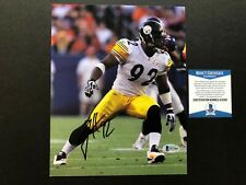 James Harrison Hot! signed autographed Steelers 8x10 photo Beckett BAS coa
