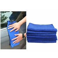 10Pcs Blue Microfiber Cleaning Auto Car Detailing New Cloth Wash Towel Duster