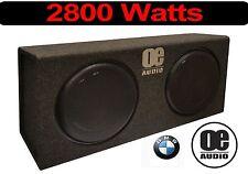 """BMW Cabrio Doppel 12"""" Active Dünn Flach bassbox eingebaut Amp 2800 Watts"""