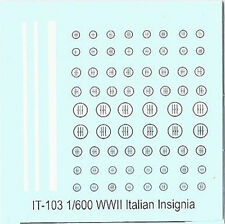 IT-103 - WWII Italian Aircraft Insignia - 1/600 Decals