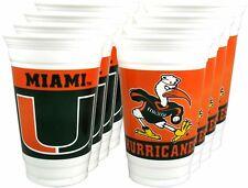 Miami Hurricanes 20 oz. Beverage Cups - 8 per set